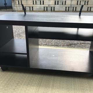 32v型テレビ台  ブラックカラー キャスター付