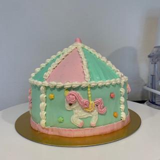 メリーゴーラウンドケーキ