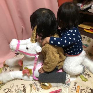 【ネット決済】★BIGユニコーンぬいぐるみ★新品1点&開封1点の...