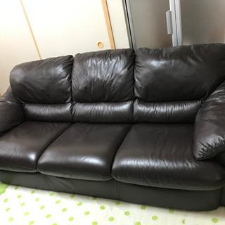 取引中【極上高級品】元値9万円 3人掛けソファー  - 家具