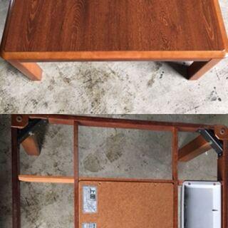 家具調こたつ 昭和の良き素材木目しっかり こたつ サンヨー ふと...