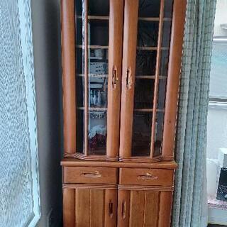 (取引完了)しっかりとしたアンティーク食器棚