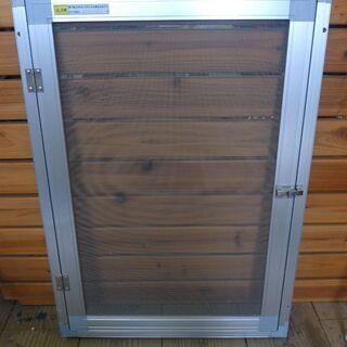 網戸 小窓用 内開き網戸 幅49.5×高さ70cm 中古 b