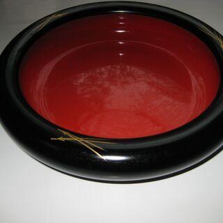 菓子鉢 天然木製 うるし塗り(山中漆器)