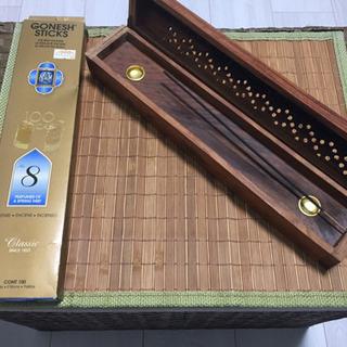 【ネット決済】ガーネッシュNO8 108本、木製インセンスBoxセット