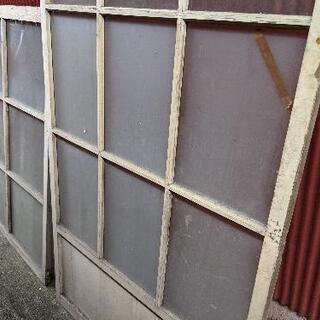 昭和レトロ ガラス戸