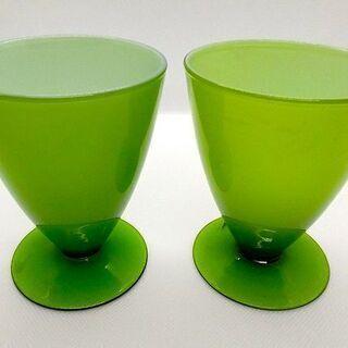 【Francfrancのグラス】グリーンが美しいカップ、ペ…
