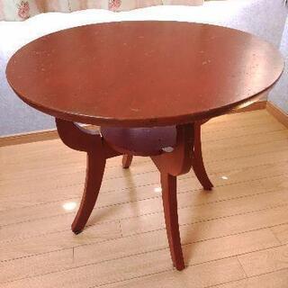 【ネット決済】アンティーク風赤いテーブル
