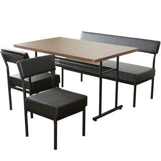 ダイニングチェア【エキューム/ブラウン色】椅子のみ三点セッ…