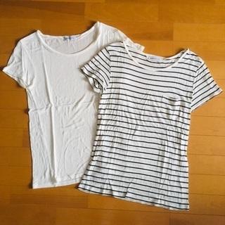 WEGO  / リネンモダールUネックTシャツ2枚組 / …