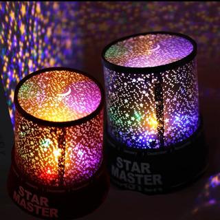 星の空ライト 電池式 ピンク&青