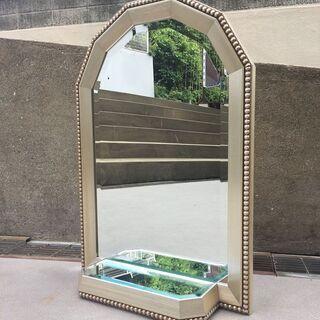 アンティークデザイン イタリア家具 ミラー 壁掛け 2面鏡…