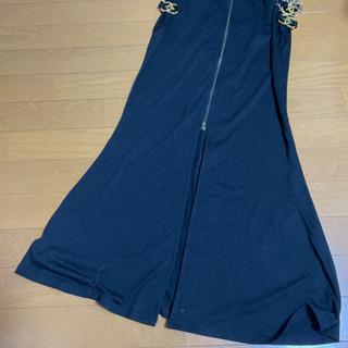 レディース黒ロングスカート【L】✨