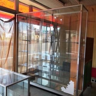 昭和レトロ 大きいガラスショーケース