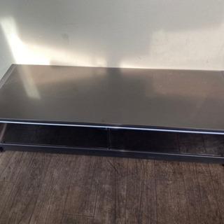 【ネット決済】大きなテレビOK!天板がガラス製のテレビ台(テレビ...