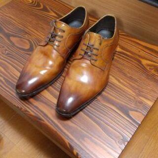 【ネット決済】madras 茶色 ツヤ革靴25.5cm