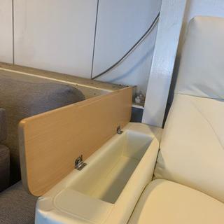 ⭐️10/5 値下げ 高級⭐️MARUICHI リクライニング 3人掛けソファ レザー 肘置き収納 バロン マルイチ 日本製 - 家具