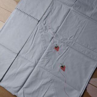 無料:未使用 レトロ可愛いこたつ布団カバー(シミ有) - 生活雑貨