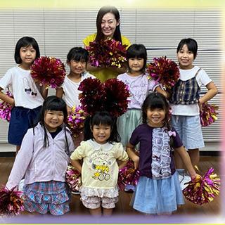 映画やTVにも出演された今井沙那恵先生のチアダンス教室です…