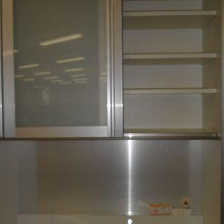 最高級食器棚☆k312☆パモウナ☆食器棚・レンジボード☆幅1000☆スリムタイプ☆良品☆近隣配達、設置可能 - 家具