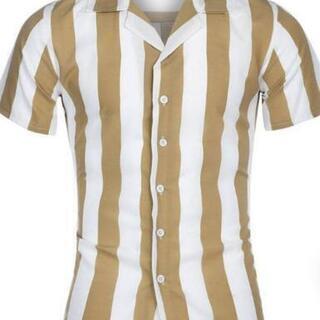 メンズサマーストライプシャツ 新品 - 服/ファッション