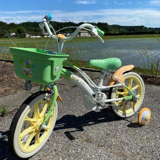 美品★16インチ子供用自転車 補助輪付き