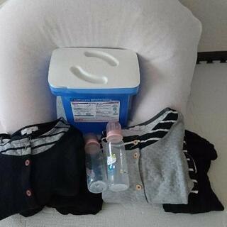 出産準備セット★授乳枕、ミルトン専用容器、哺乳瓶、マタニティウェア
