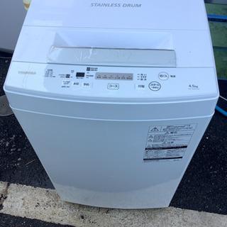 2019年製 TOSHIBA  4.5kg洗濯機 AW−45M7...