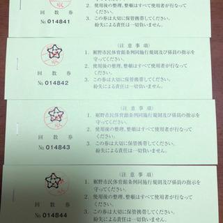 【ネット決済・配送可】裾野市体育館回数券 180円×12 4冊