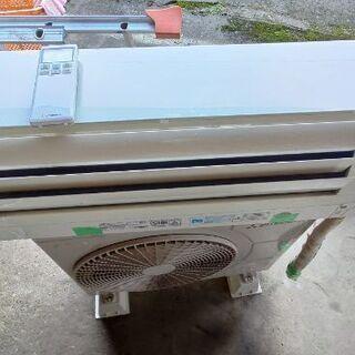 三菱重工の2016年式エアコンです。分解洗浄、組み付け後、試運転...