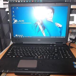 29 NEC黒ノート  新品SSD120GB搭載 バッテリー約1...