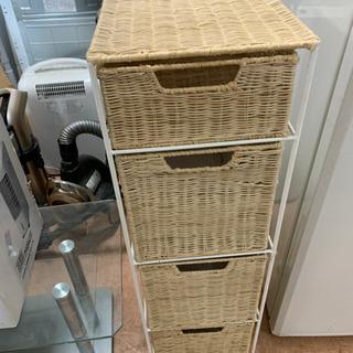 カゴ 籠 藤の収納家具 4段 ラック 🌈 しげん屋