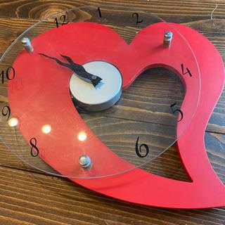 時計 ハートの画像