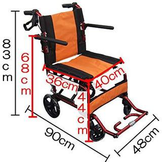軽量 折畳み式 車椅子 ノーパンクタイヤ オシャレ🧡🌈 しげん屋