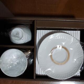 【新品未使用】ノリタケ ペアコーヒーカップ&ソーサー