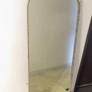 N2796 アンティーク 鏡 壁掛け ウォールミラー 大型 縦長...