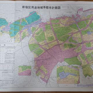 新宿区都市計画図 用途地域 / 高度地区 / 都市計画街路…