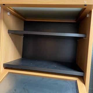 本棚 ブックマン 飾り棚 チェスト 食器棚 中古 - 服/ファッション