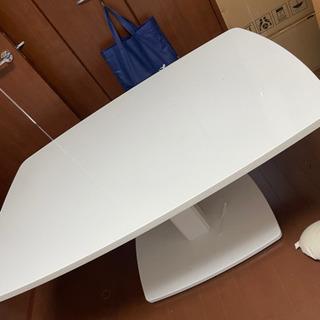 お話中です))) 昇降式テーブル ダイニングテーブル ホワイト の画像