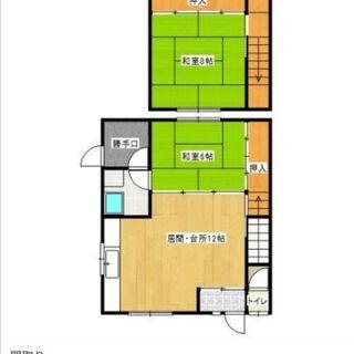 遠軽町西町 物置物件 D-1メゾネット2DK 居住可 ショップ可 事務所可 リフォーム可 水回りOK - 賃貸(マンション/一戸建て)