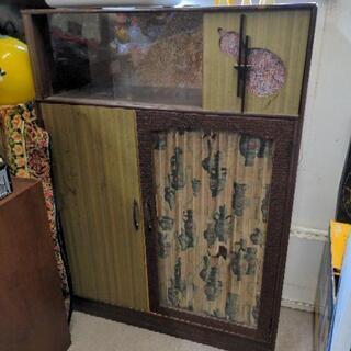 昭和レトロな本棚 家具 ガラスケース
