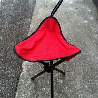 椅子に成る杖、チェアーステッキ、赤