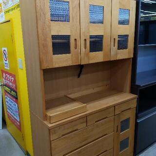 3面レンジボード 食器棚 カントリー調 120×45×197cm...