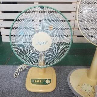 扇風機 2台セット リモコン、説明書付き - 下関市