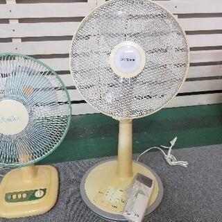 扇風機 2台セット リモコン、説明書付き - 家具