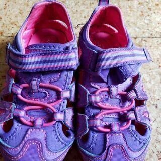 14.0サイズ サンダル 紫&ピンク キッズ