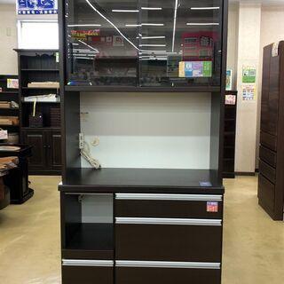🍀松田家具 日本国産家具🍀 2面 キッチンボード 食器棚
