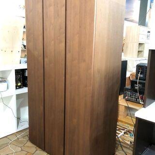 札幌近郊 送料無料 天然木材 ワードローブ ウォールナット材 洋...
