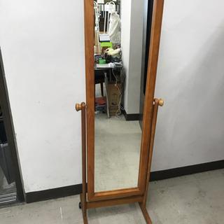 取引場所 南観音 A2107-151   姿鏡 木製 キャスター付き