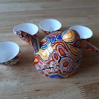 アボリジニ紋様茶器